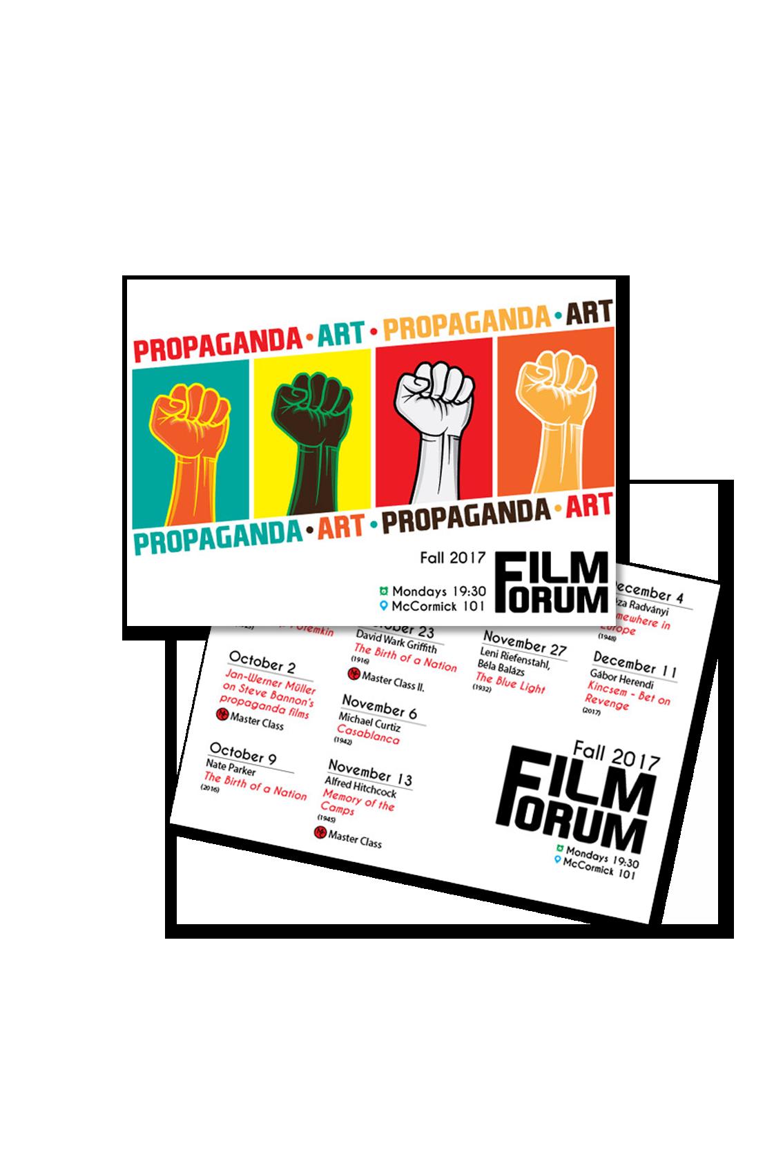 FF2017Fall Propaganda Art Poster PostCard